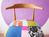 patchwork chair makeover