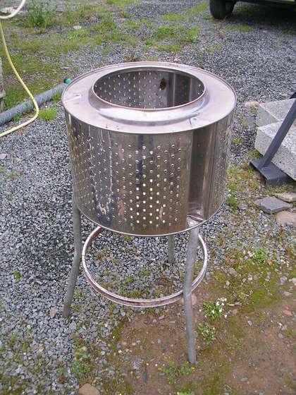 Diy Patio Heater Of Old Washing Machine Shelterness