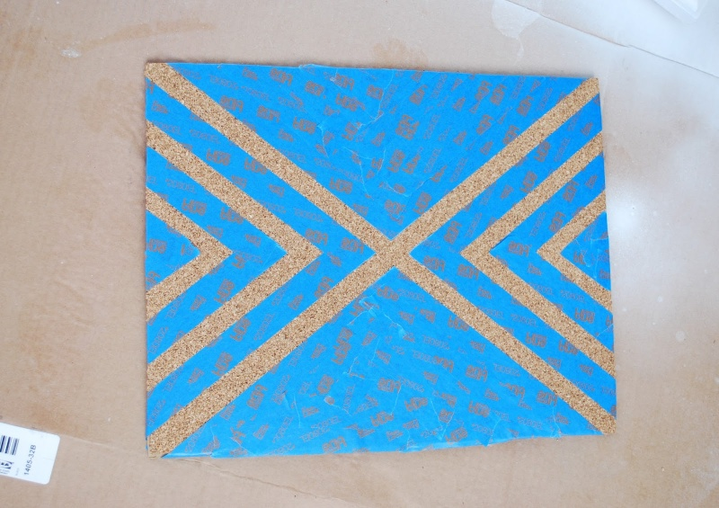 Picture Of diy patterned cork boards for pinning your stuff  4