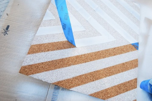 DIY Patterned Cork Boards For Pinning Your Stuff