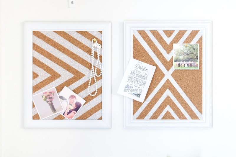 Picture Of diy patterned cork boards for pinning your stuff  6