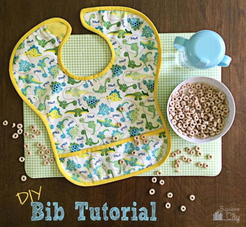 Picture Of diy patterned waterproof bib to make  1