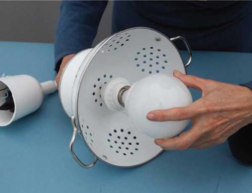 Diy Pendant Lamp Of Colander