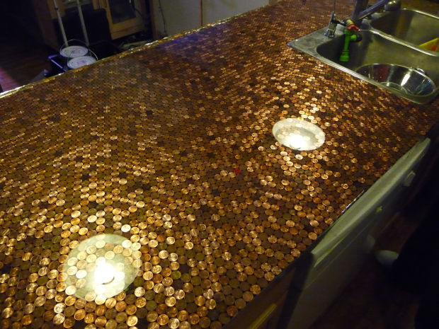 5 DIY Penny Kitchen Countertops