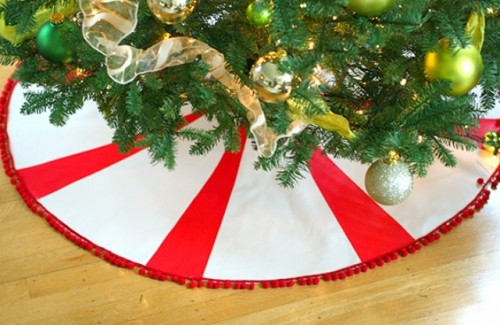 DIY Peppermint Candy Tree Skirt