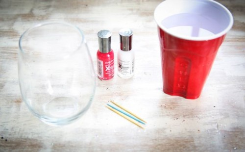 Diy Peppermint Water Glasses