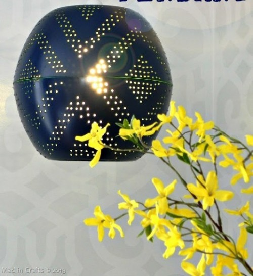 DIY Perforated Globe Lamp For Indoors And Outdoors
