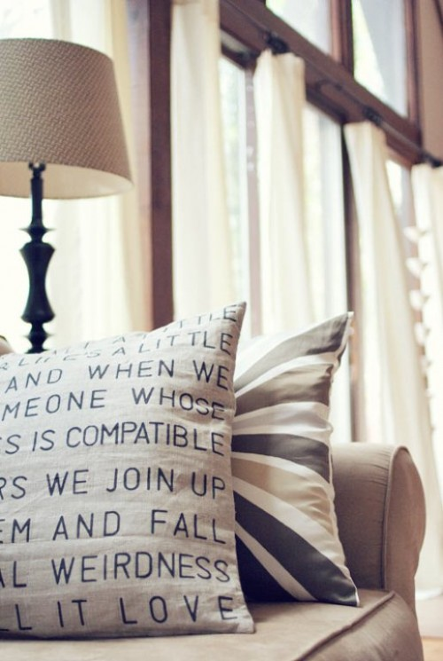 Diy Personalized Pillow With Text