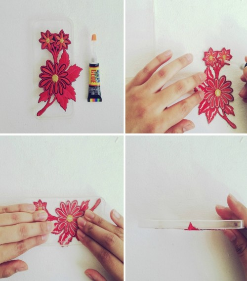 DIY Phone Case With Applique And Tassels