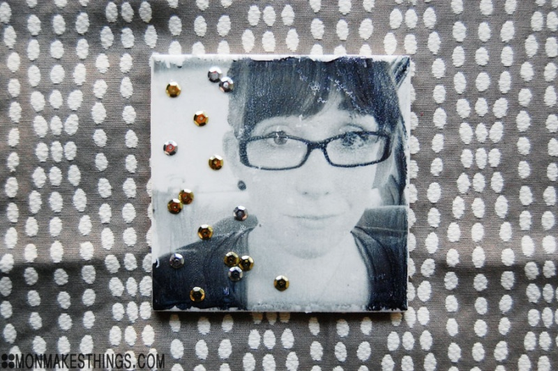 photo transfer photo coasters