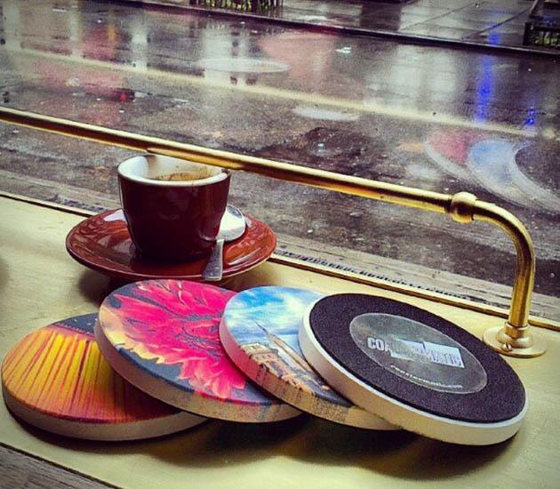 Instagram beverage coasters