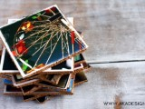 cork photo coasters