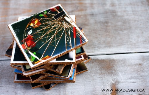 cork photo coasters (via shelterness)