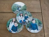 round paper photo coasters