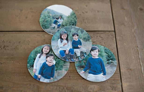 round paper photo coasters