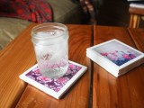 colorful Instagram coasters