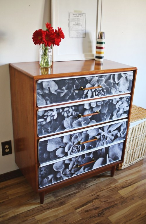 DIY Photo Decoupage Renovation Of An Old Sideboard ...