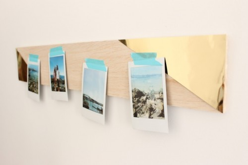 geo wall photo display (via shelterness)