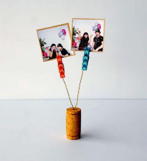 corks and clips photo holders (via acharmingproject)