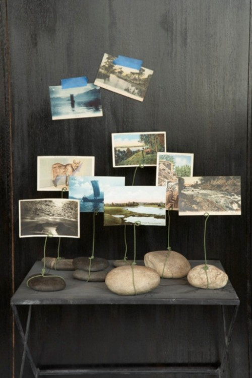 rock photo displays (via shelterness)