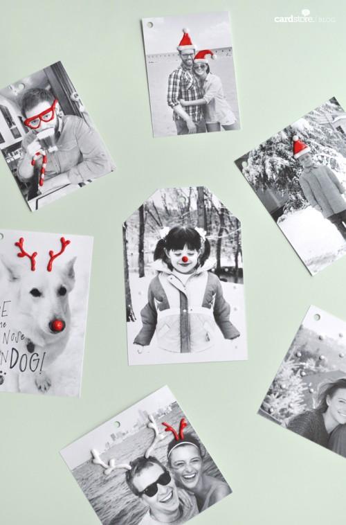 cheerful photo gift tags (via katetessera)
