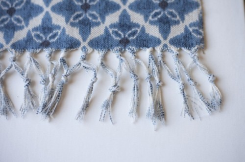 boho bleach fringed blanket (via shelterness)