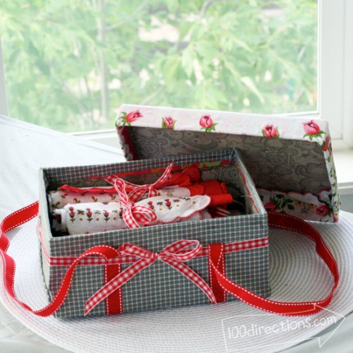 picnic basket of a shoebox (via 100directions)