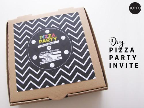 pizza party invitations (via tomfo)