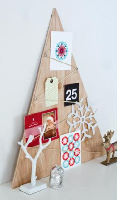 Diy Plywood Christmas Card Holder