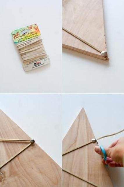 Diy Plywood Christmas Card Holder
