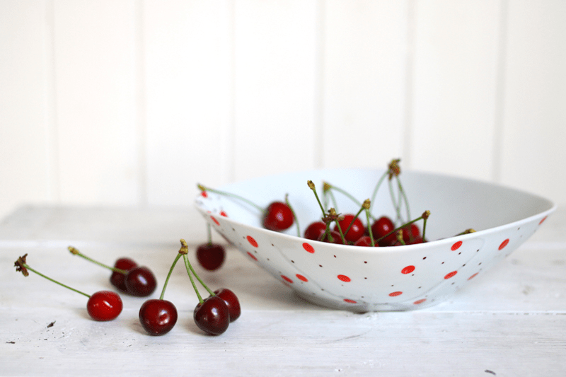 fun polka dot bowl