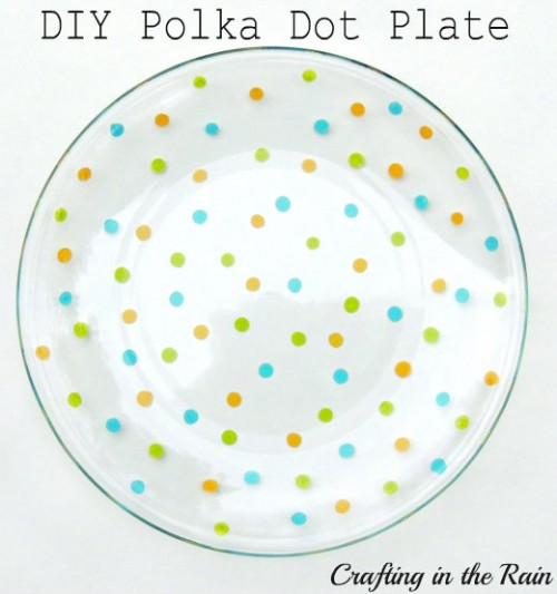 painted polka dot plate (via craftingintherain)
