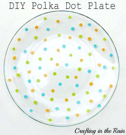 painted polka dot plate
