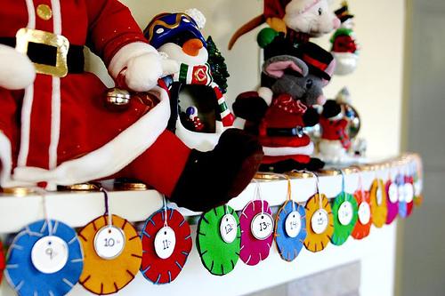 Diy Polka Dots Advent Calendar