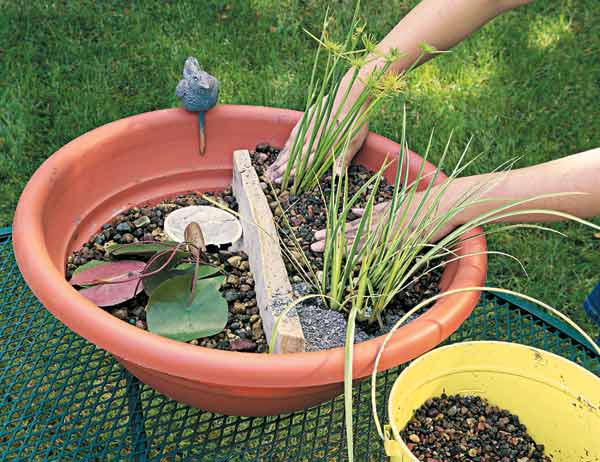Picture of diy portable outdoor water garden for Build backyard water garden