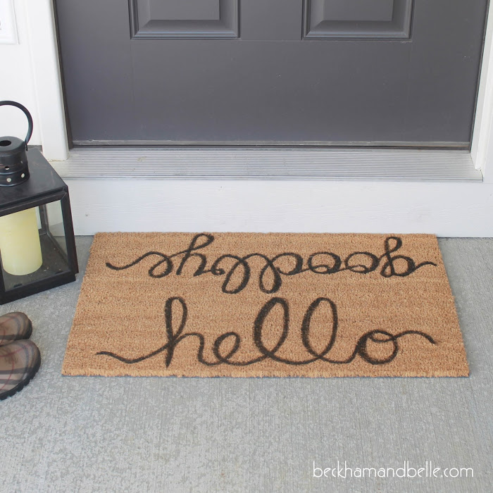 Picture Of diy pottery barn inspired inscription doormat  2