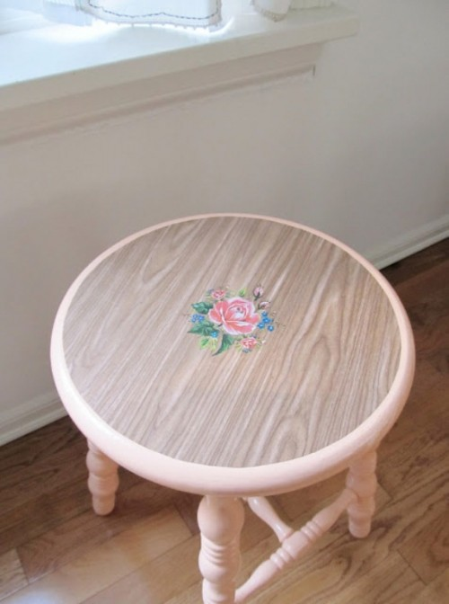 Diy Pretty Vintage Stool