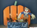 orange pumpkin stand