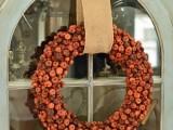 tiny pumpkins wreath