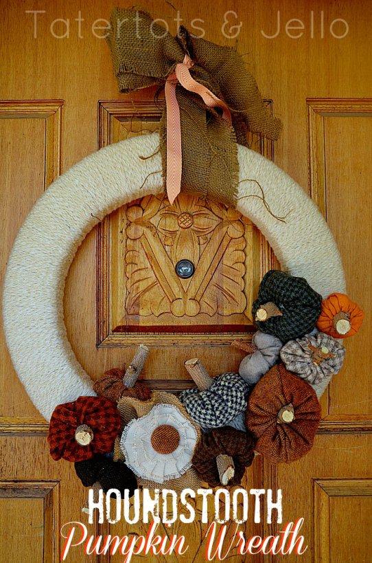 fabric pumpkins wreath