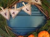burlap and pumpkin wreath