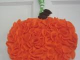 fabric pumpkin wreath