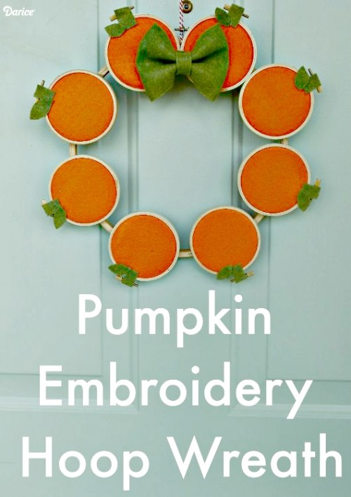 embroidery hoop pumpkin wreath (via blog)
