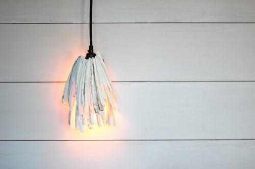 DIY Razor Clam Pendant Light For Beachy Decor
