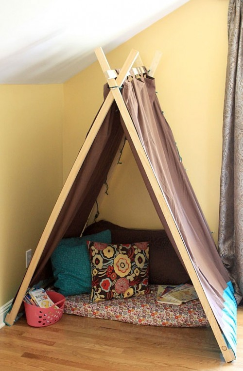 DIY Reading Nook And Play Tent For Kids