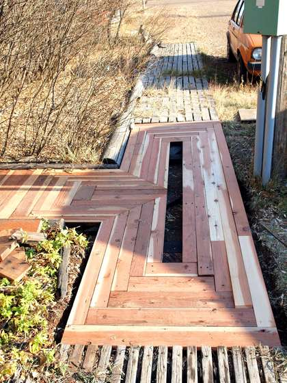 diy wood walkway