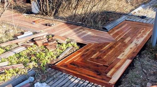 Diy Reclaimed Wood Walkway