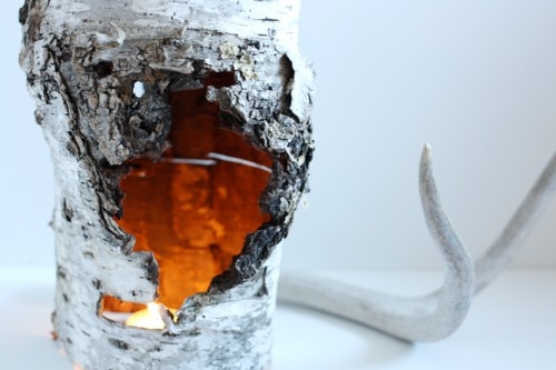 Diy Recycled Birch Piece Candle Holder