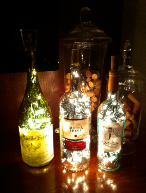 DIY Recycled Bottle Lamps