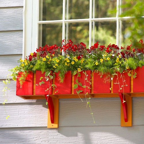 Diy Red Window Planter Box